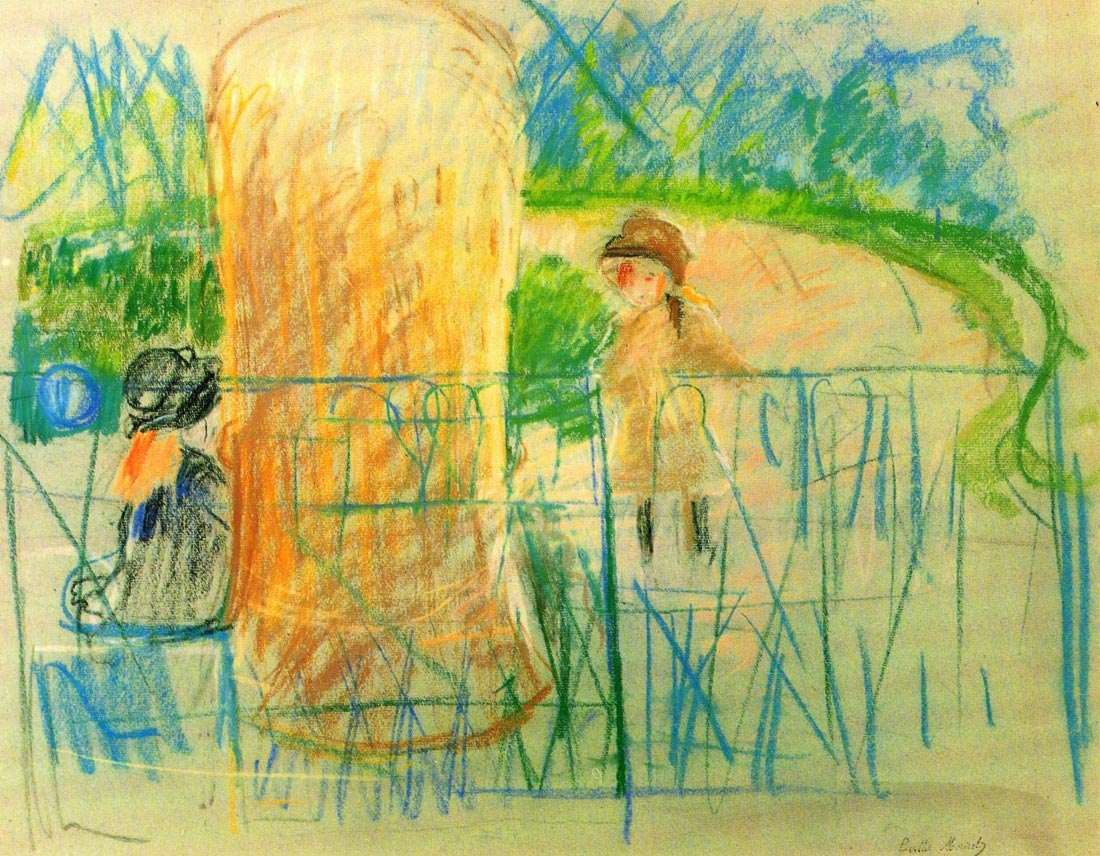 Chair in the garden [2] - Morisot